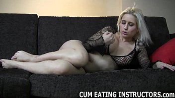 Play with your cock and then eat up the cum CEI