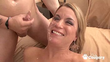 Horny Jessie Fontana Lets Her Nephew Shoot His Load On Her Chin