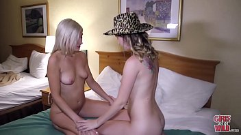 GIRLS GONE WILD - Young Lesbian College Girls Help Each Other Climax