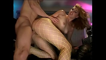 Hot whore Genesis Skye in yellow fishnets gets her snatch & butt fucked by stud