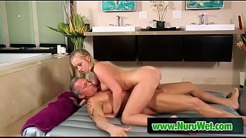Sexy masseuse blows and fucks covered in nuru massage - Marcus London and Bailey Brooke