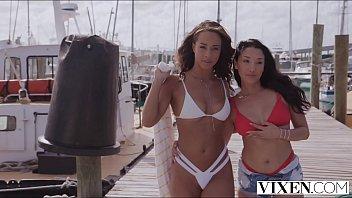VIXEN Vicki & Teanna share hot lesbian get-away in paradise