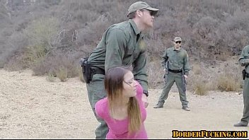 Border patrol agent finds a hot teen and fucks her 1