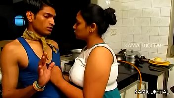 Indian big boob aunty forcing servant for sex