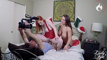 Double Milf Bang for xmas BTS -Laz Fyre