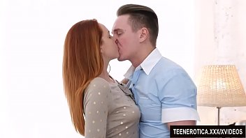 Great young hard tits Young redheaded vixen candy red is passionately fucked with a huge cock
