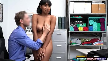 Hot teen ebony gets fucked by LP Officers