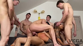 EIGHT HOT GUYS FUCKED HARD AND PISSED OFF MONICA FOX 5