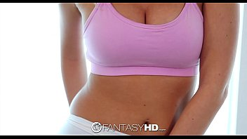 FantasyHD - Hot Teen Alexis Adams does yoga in see through yoga pants