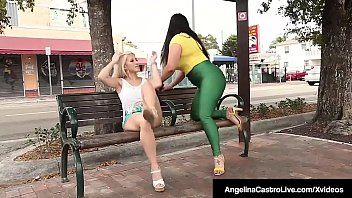Cuban BBW Angelina Castro StrapOn Bangs Latina Cristi Ann!