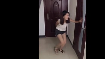 Footballer pees waiting China girls very desperate to pee