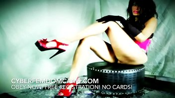 Femdom BDSM Beautiful Sadistic And Cruel Mistress Humiliates Sissy Slave On Cam