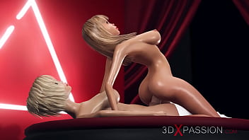 Hot model tranny young 3dxpassion.com. shemale plays with a hot horny blonde on the fashion nude model podium
