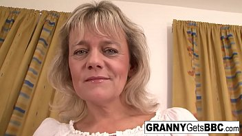 Interracial granny koostube Blonde granny wants her pussy stuffed with black cock