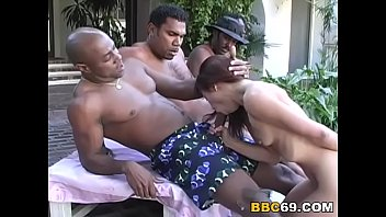 Malaysia Takes Two Black Cocks In Her Pussy