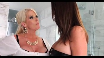 Sexy blonde lesbian Wife confronts husbands mistress