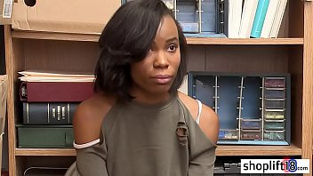 Ebony teen taken by a perverted cop because she stole