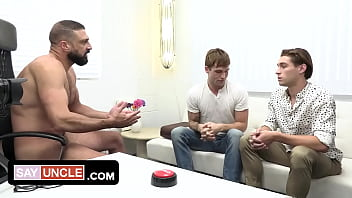 Hot Therapist Cures The Modesty Of Twink Stepbrothers By Spreading His Hot Jizz All Over Their Faces