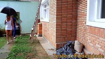 Amador brasileiro casada transando com mestre de obras