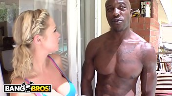 Bangbros - Blonde Babe Katie Kox Taking Bbc From Wesley Pipes