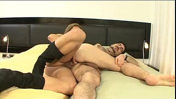 A man is buggered by a blonde and hot