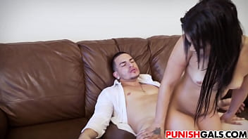 Teen gets fucked by the cock enforcer