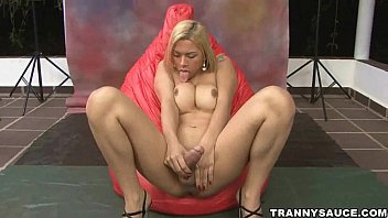 Shemale escort los angeles Sexy shemale angel star tugging on her hard cock