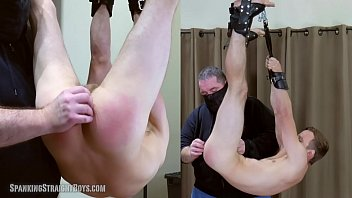 Toms gay bar Straight boy suspended hog tied style and spanked hard