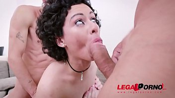 Anal double plugged Welcome back stacy bloom with two cocks back in your ass af002