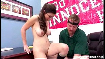 busty teen with glasses gets her meaty pussy plundered hard