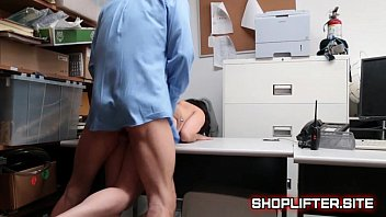 Cute Brunette Teenager Fucked On Detectives Desk