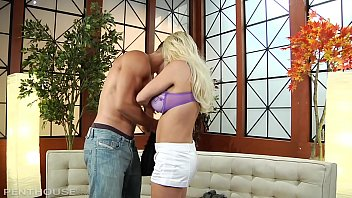Blonde and Busty Milf Diamond Foxxx Bangs a Young Stud for a Hot Load of Cum