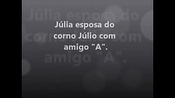 Julia mamando o amigo A