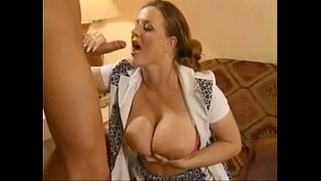 Busty german milf fucked by three men