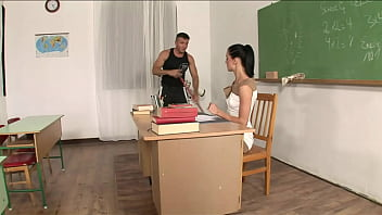 A sexy teacher gets fucked