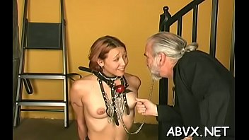 Elegant diva is sometimes using a sex-toy