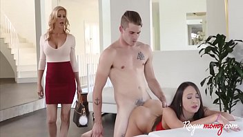 Brunette Teen Student Fucks Teacher & Her Husband For Grades- Quinn Wilde, Alexis Fawx
