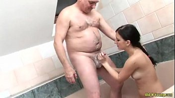 Old and young after hot oral and action hardcore with mouts full of hot load hardcore oral with