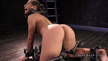 Busty slave suffers extreme device bondage