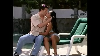 Asian toile bedding Strapping white fellow penetrates tiny asian cutie pie sabrine maui in the canvas slung chair near the pool