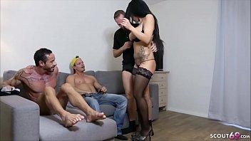 German MILF - Geile Deutsche MILF Jacky Lawless bei Anal DP Gruppensex