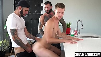 Nephew fucked by gay uncle and step-dad - bareback anal