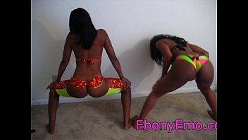 Black big ass shaking Two black round big booty