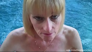 Skyy porn star Granny bj from the pool