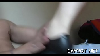 Dude licks beauties feet