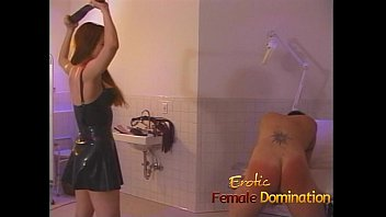 Female ass thongs - Sexy redhead dominatrix puts felix through some painful slave exercises-6