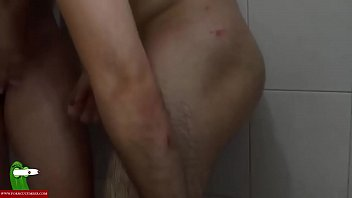 Fucking on a stool in the shower. SAN277