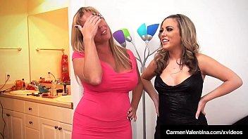 Carmen Valentina & Amber Lynn Bach Do Some 4Some Fucking! Vorschaubild