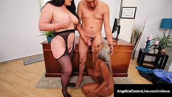 Big Butt Babes Angelina Castro & Harmonie Marquis Milk Cock!