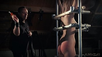 Lolly Small'_s ass takes a punishment and a deepthroat cumshot tied up